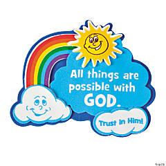 """""""All Things Are Possible with God"""" Magnet Craft Kit"""
