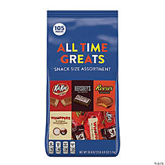 All Time Greats Snack Size Hershey Assortment, 38.9 oz, 105 Pieces