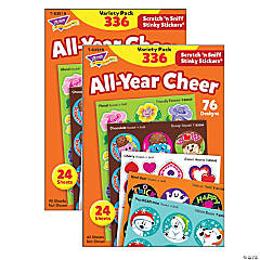 All Year Cheer Stinky Stickers® Variety Pack, 336 Count Per Pack, 2 Packs