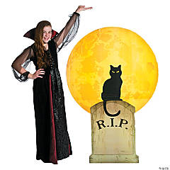 alloween Cat Cardboard Stand-Up Halloween Decoration