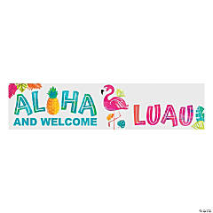 Aloha & Welcome Luau Custom Banner - Small