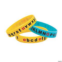 Alphabet Recognition Silicone Bracelets