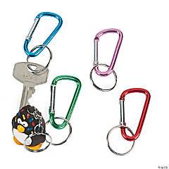 Aluminum Metallic Clip Keychains