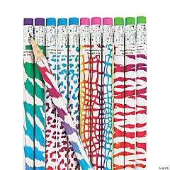 Amazing Animal Print Pencils - 24 Pc.