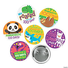 Amazing Animals 100th Day of School Buttons