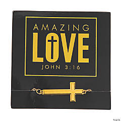 Amazing Love Cross Bracelets with Card