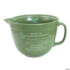 Amazing Woman™ Green Ceramic Mixing Bowl