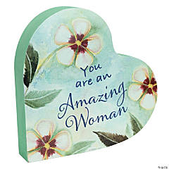 Amazing Woman™ Heart Plaque
