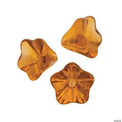Amber Tulip Beads - 9mm