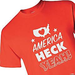 America Heck Yeah Adult's T-Shirt - 2XL