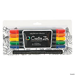 American Crafts™ 5 Pc. Primary Adult Coloring Markers