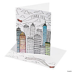 American Crafts™ Adult Coloring Cityscape Thank You Card