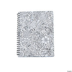 American Crafts™ Adult Coloring Garden Spiral Notebook