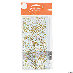 American Crafts™ Gold Floral Journal Pencil Pouch
