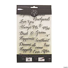 American Crafts™ Kelly Creates Wedding Traceable Stamps