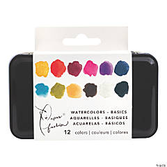 American Crafts Paper Fashion Basics Watercolor Half Pan