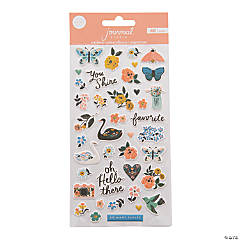 American Crafts™ Swan Puffy Journal Stickers