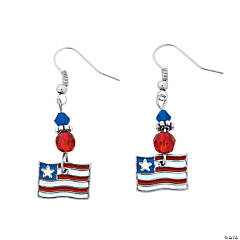 American Flag Earring Craft Kit