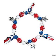 American Flag Flip Flop Bracelet Craft Kit