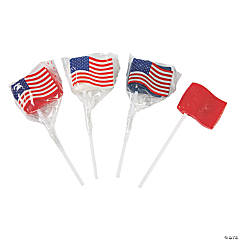 American Flag Lollipops