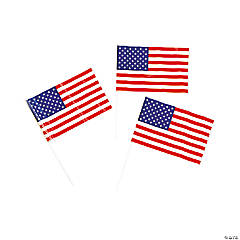 American Flags Clip Strip