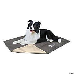 "American Kennel Club Solid Reversible Cooling Mat 26""X20""-Taupe"