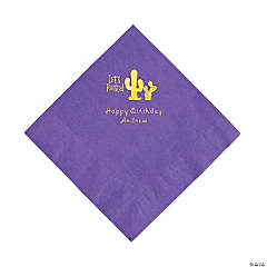 Amethyst Fiesta Personalized Napkins with Gold Foil - Luncheon