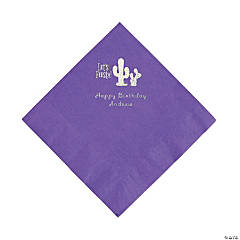 Amethyst Fiesta Personalized Napkins with Silver Foil - Luncheon