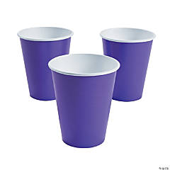 Amethyst Paper Cups - 24 Ct.