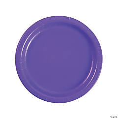 Amethyst Paper Dinner Plates - 24 Ct.