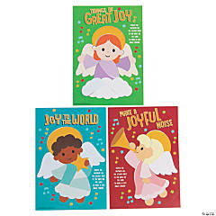 Angel Mosaic Sticker by Number Christmas Cards