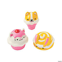 Animal Food Slow-Rising Vanilla-Scented Squishies