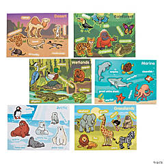 Animal Habitat Mini Sticker Scenes