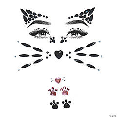 Animal Jeweled Face Sticker