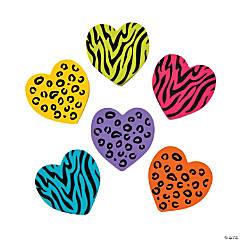 Animal Print Heart Erasers