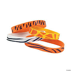 Animal Print Rubber Bracelets