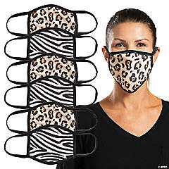 Animal Print Washable Face Masks - 6 Pc.