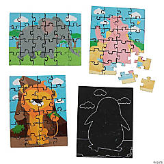 Animal Scratch N' Reveal Puzzles - 12 Pc.
