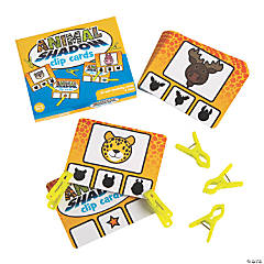 Animal Shadow Matching Clip Cards