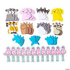 Animal Shapes Sticky Notes Assortment