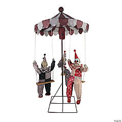 Animated Clown-Go-Round Halloween Decoration