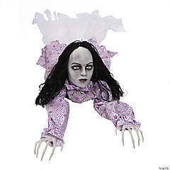 Animated Crawling Creepy Woman Halloween Decoration
