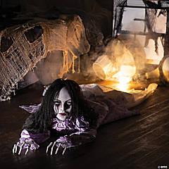 Animated Crawling Creepy Woman