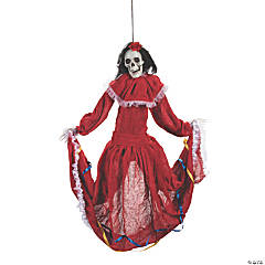 Animated Dancing Fiesta Beauty Skeleton Hanging Decoration