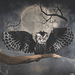 Animated Hanging Halloween Owl