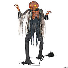 Animated Scorched Scarecrow with Fog Machine Halloween Decoration