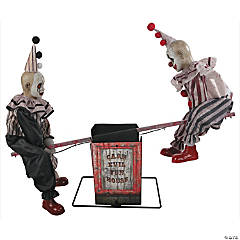 Animated See-Saw Clowns Halloween Decoration