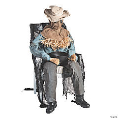 Animated Sitting Scarecrow