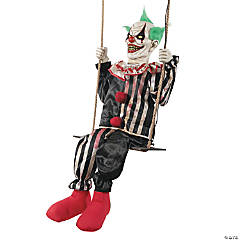 Animated Swinging Chuckles Clown Halloween Decoration