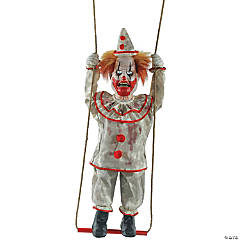 Animated Swinging Happy Clown Halloween Decoration